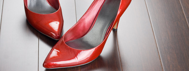 Stock photo: sexy red shoes