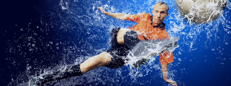 Stock photo: football under water