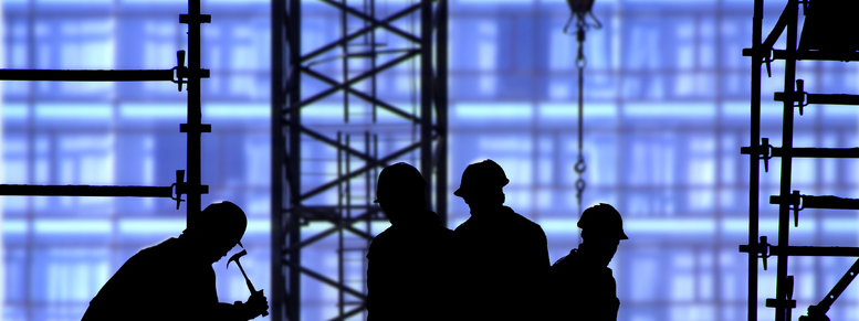 Stock photo: construction site blue