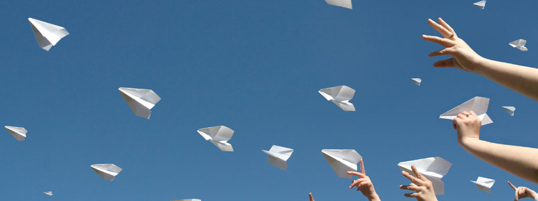 Stock photo: paper airplanes