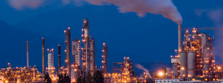 Stock photo: oil refinery