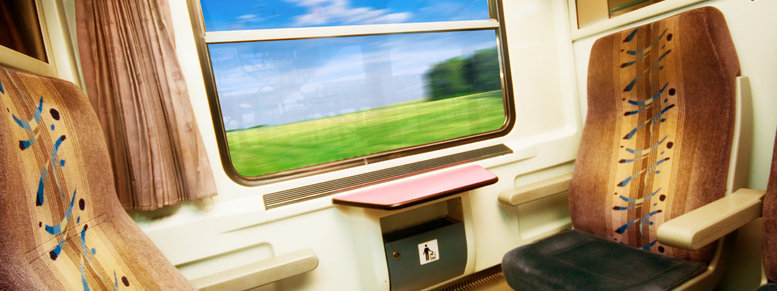 Stock photo: travel in comfortable train.