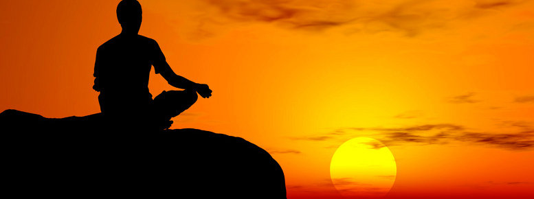 Stock photo: yoga - sunset meditation