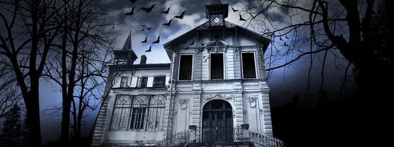 Stock photo: haunted house