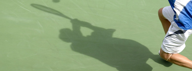 Stock photo: tennis shadow 01