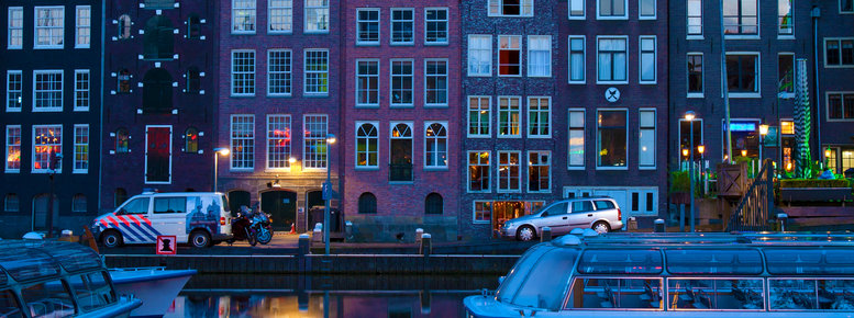 Stock photo: canal houses
