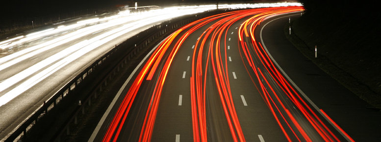 Stock photo: highway at night