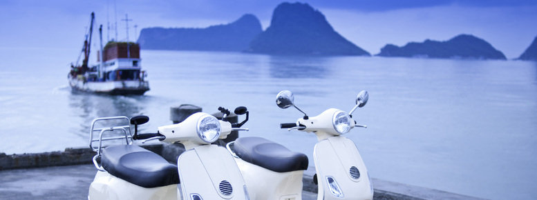 Stock photo: motorcycles by the sea