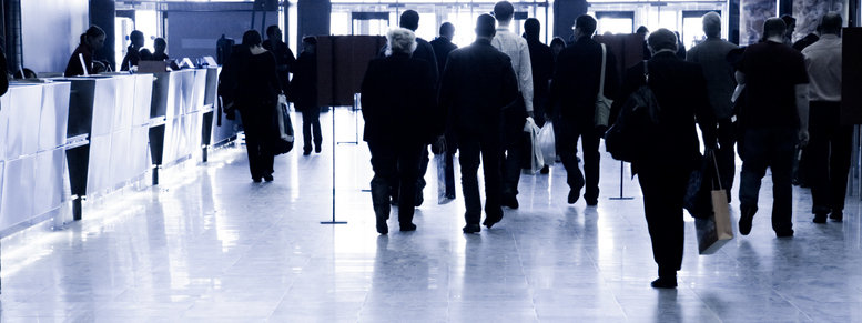 Stock photo: business people walking