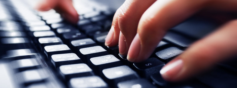 Stock photo: fingers on keyboard