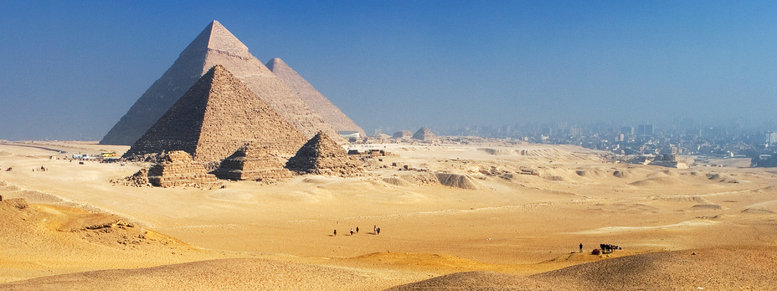 Stock photo: pyramids giza plateau cairo