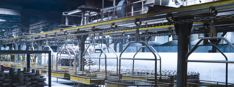 Stock photo: industrial assembly line