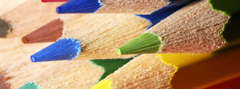 Stock photo: color pencils macro