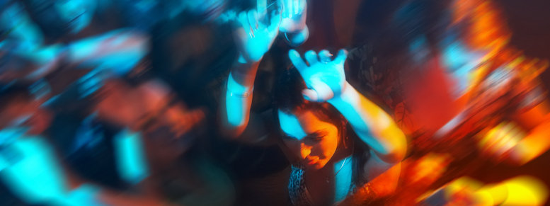 Stock photo: people dancing in a bar or nightclub at a party