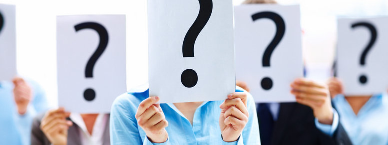Stock photo: business people with question mark