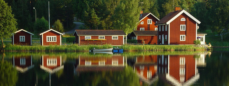 Stock photo: swedish lakeside