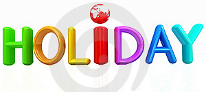 3d colorful text holiday