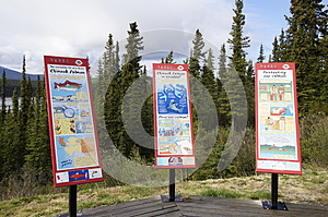 Alaska Highway Canada Information Signs