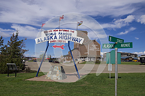 Alaska Highway Sign
