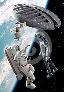 Alien space encounter