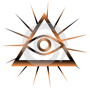 Colorful All-Seeing Eye isolated