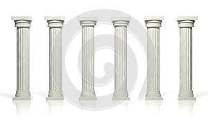 Ancient marble pillars