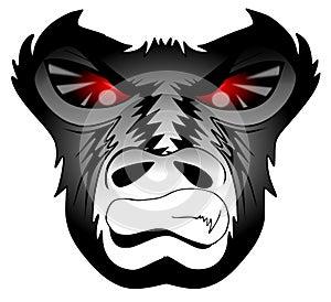 Angry gorilla