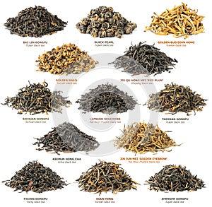 Ansammlung des schwarzen Tees