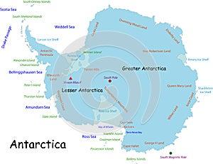 Antarctica map - Stock Photos Antarctica Tourists Locations
