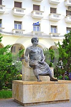 Aristotle statue Thessaloniki