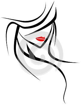 Artistic woman face