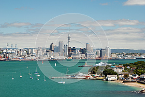Auckland skyline. New Zealand - Stock Photos South Pacific Sightseeing Sites