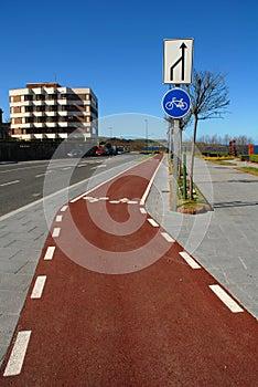 Bike lane without traffic