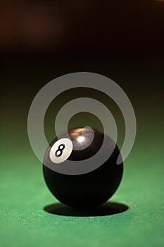 Billiards eight ball.