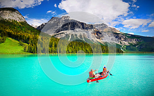 Boating, Emerald Lake, British Columbia
