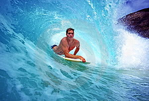Bodyboarder Chris Gagnon Surfing in Hawaii