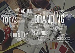 Branding Marketing Advertising Identity World Trademark Concept