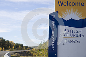 British Columbia Canada Welcome Sign