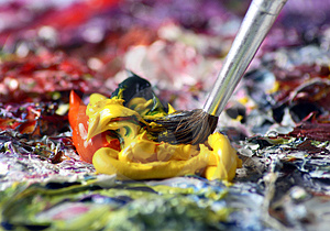 Brush in Paint
