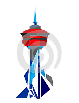 Calgary Tower Illustration