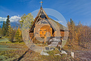 Can 1888-06 Log church, Haines Junction, Yukon, Canada
