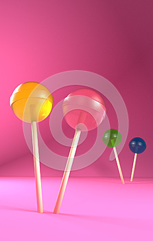 Candy Lollipops Invitation Card