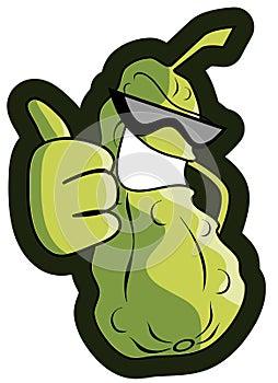 Cartoon pickle