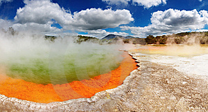 Champagne Pool, hot thermal spring, New Zealand