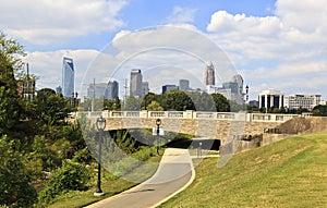 Charlotte Skyline from Midtown Park