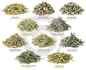 Chinesische Ansammlung des grünen Tees