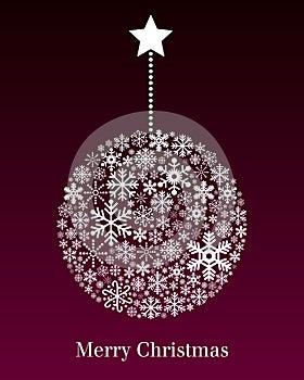 Christmas Ball Greeting Card