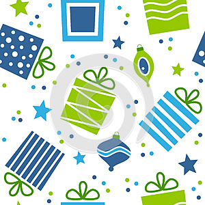 Christmas Gifts Seamless Pattern, by Roberto Giovannini, Agency: Dreamstime.com