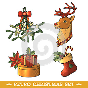 Christmas icons colored set, by Macrovector, Agency: Dreamstime.com