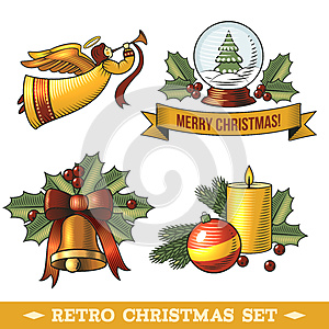 Christmas icons set, by Macrovector, Agency: Dreamstime.com